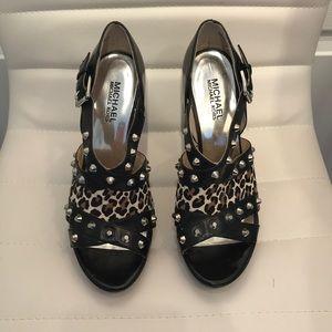Michael Kors Animal Print/ Studded Sandal Heels
